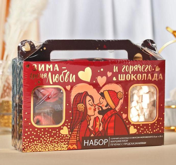 Набор  c горячим шоколадом Зима-время любить