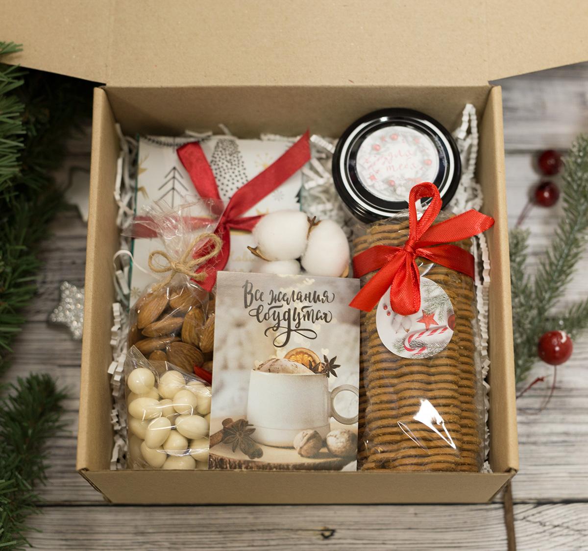 Новогодний подарочный набор Все желания сбудутся, белый